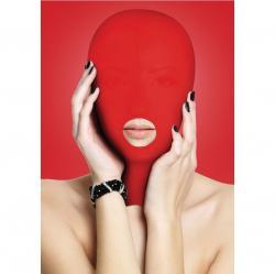 Masca neagra Secret play Masca rosie tip cagula cu deschidere pentru gura