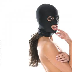 Masca rosie Secret play Masca neagra tip cagula cu trei deschideri