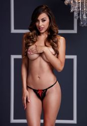 Chiloti cu crapatura Obsessive Bikini cu fontita rosie