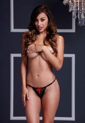 Lenjerie Sexy Bikini cu fontita rosie