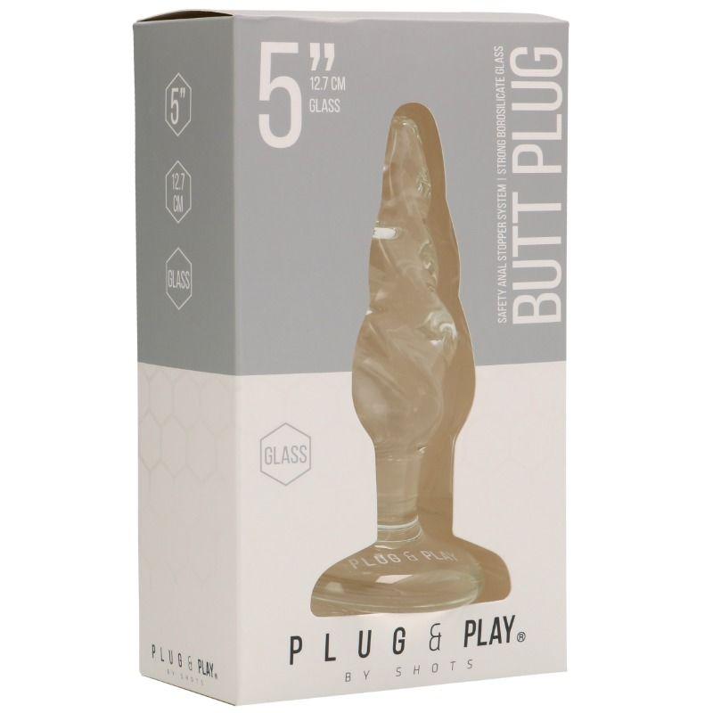 Plug anal din sticla 12.7 cm