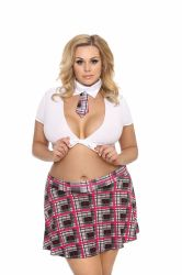 Set sexy Queen Costum sexy Studenta Plus Size