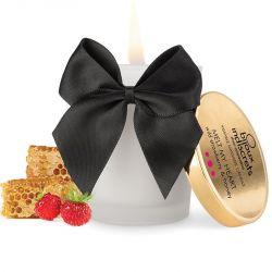 Ulei afrodisiac Shunga cu aroma vanilie 100ml Candela Masaj Bijoux aroma de Zmeura