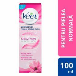 Irigator anal Showerplay Crema Depilatoare Veet cu lapte de lotus pentru piele normala, 100 ml, Veet