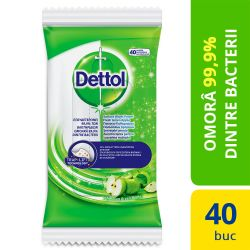 Irigator Clean Stream din silicon 225ml Servetele dezinfectante Dettol 40 buc Mar Verde