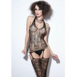 Catsuit Semitransparant Queen Catsuit Queen cu Jartiere