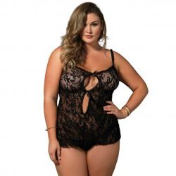 Catsuit Semitransparant Queen Catsuit Leg Avenue Plus Size