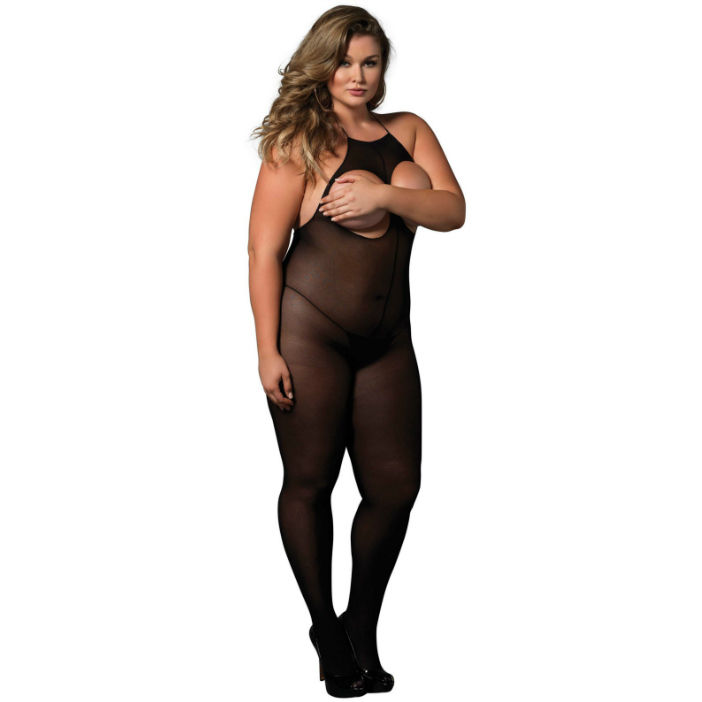 Catsuit Open Cup Plus Size