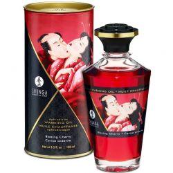 Ulei de masaj afrodisiac, menta, trandafiri si portocale 150ml Ulei afrodisiac Shunga cu aroma cirese 100ml