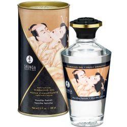 Ulei de masaj afrodisiac, menta, trandafiri si portocale 150ml Ulei afrodisiac Shunga cu aroma vanilie 100ml