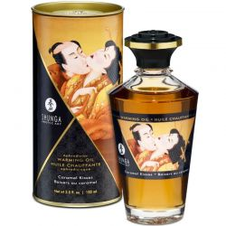 Ulei de masaj afrodisiac Libido Powe 200ml Ulei afrodisiac Shunga cu aroma caramel 100ml