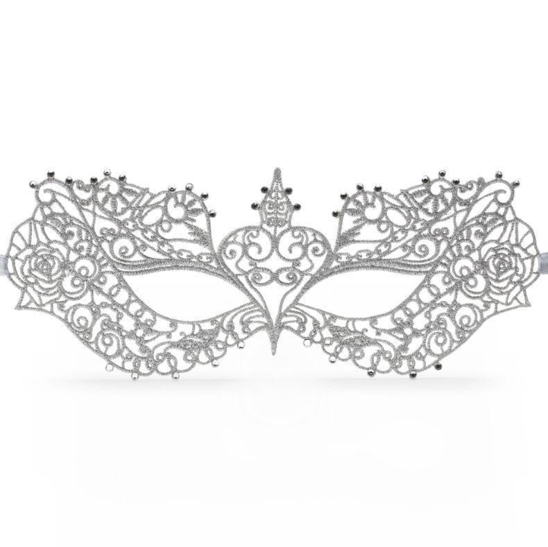 Masca pentru ea argintie Fifty Shades Darker